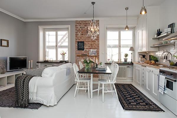 Un apartamento de estilo nórdico clásico