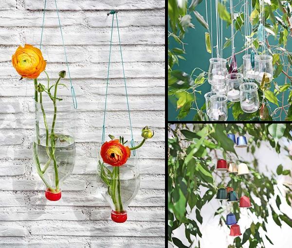 3 ideas para decorar el jardín con materiales reciclados