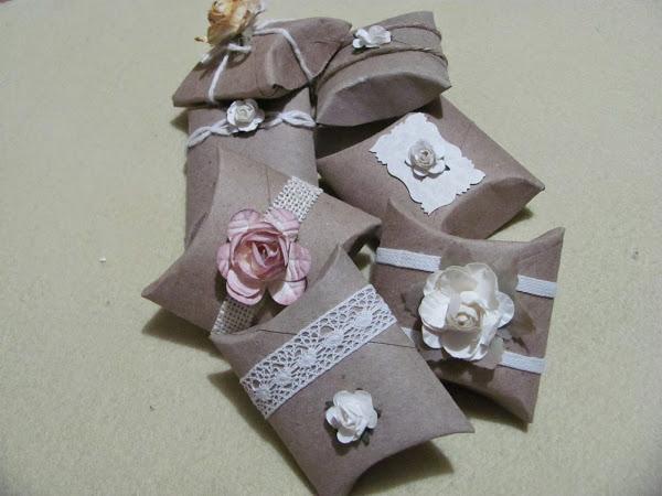 Aprende a hacer unas pequeñas cajas de regalo con rollos de papel