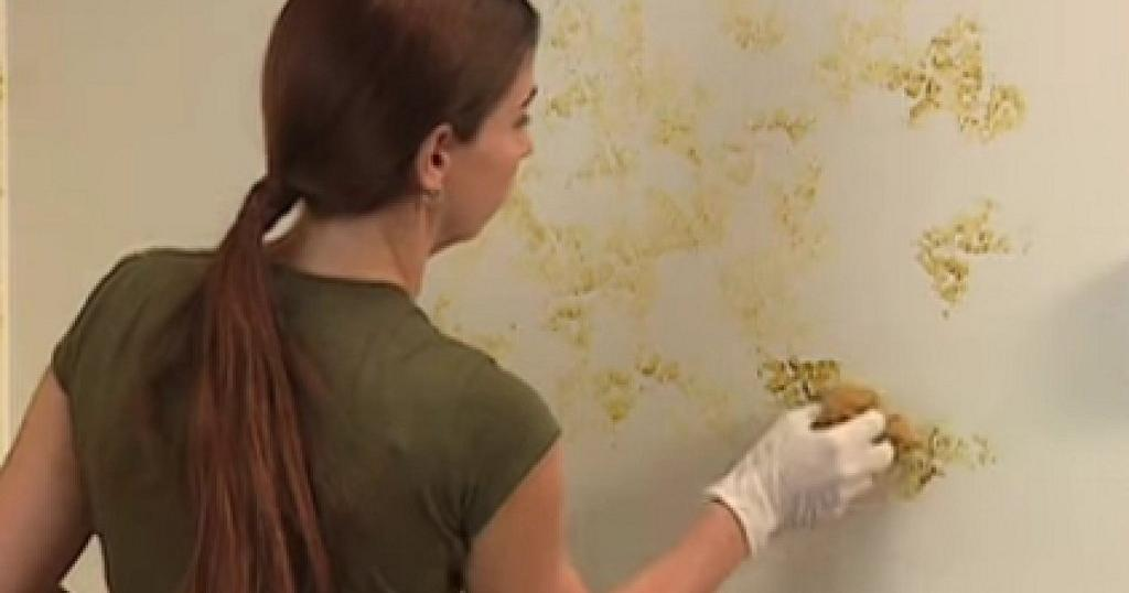 Pintar con esponja - Pasos para pintar una pared ...
