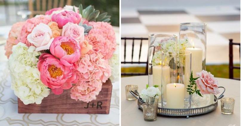 Ideas para centros de mesa: ¿flores o velas?