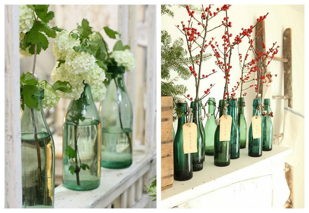Ideas para decorar con botellas recicladas