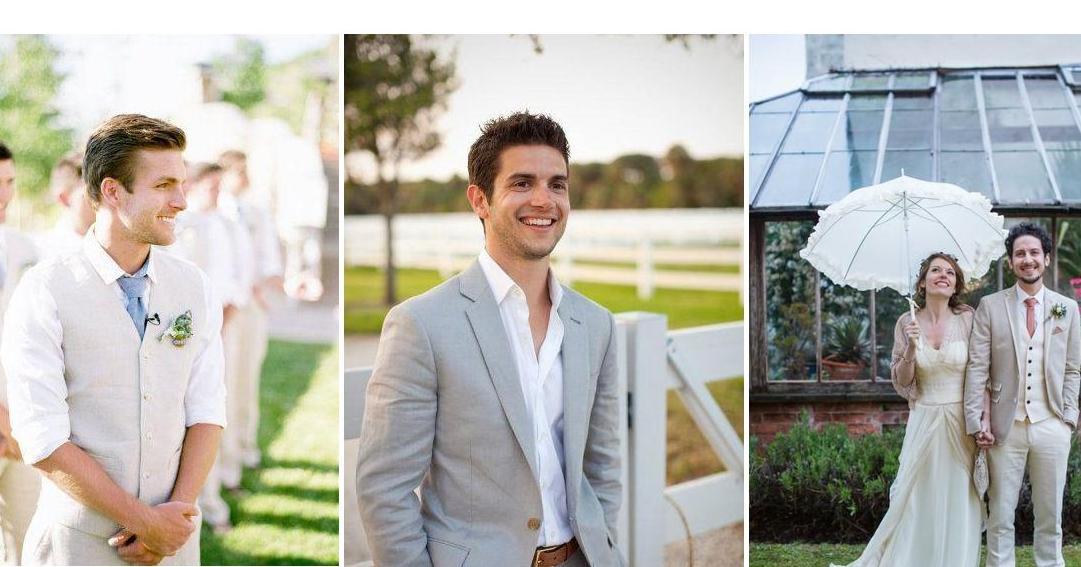 Trajes de novio: tendencias para una boda de día