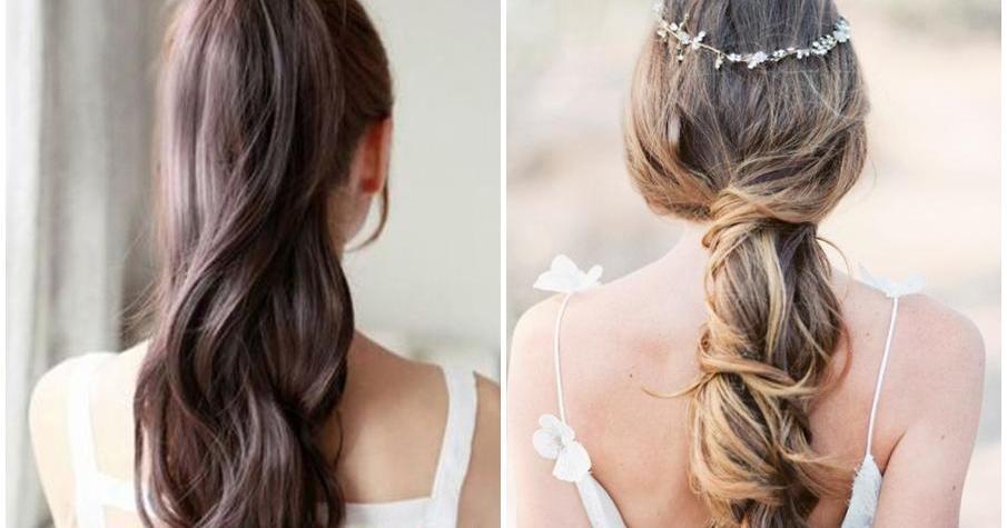 Novias con coleta: ¡un peinado muy romántico!