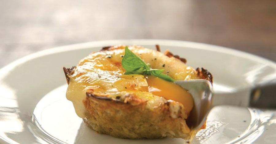 Huevos en canasticas de hash brown o patata. ¡Mira qué pintaza de receta!