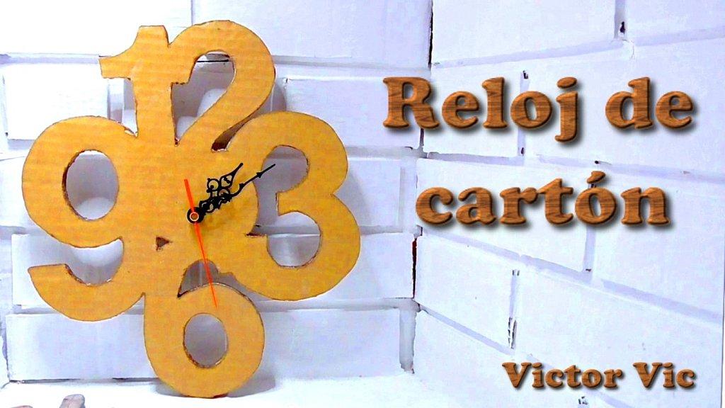 C mo hacer un reloj de pared con cart n manualidades con cart n diy manualidades - Manualidades relojes infantiles ...
