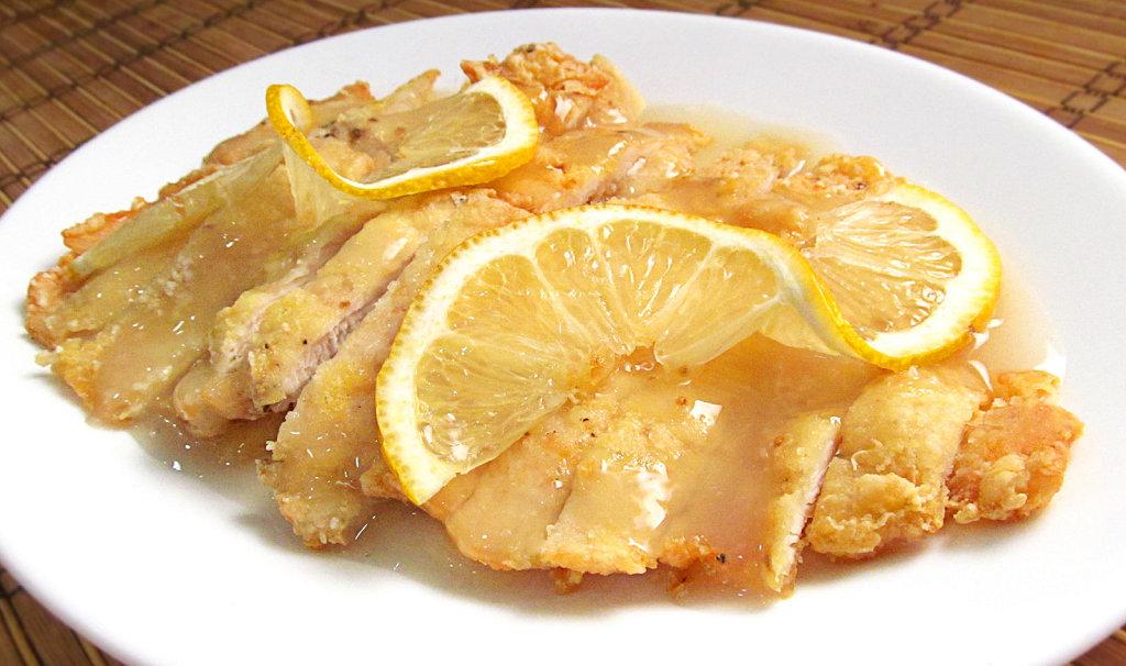 Pollo al limon al estilo de los restaurantes chinos. Pero mucho mejor porque es casero