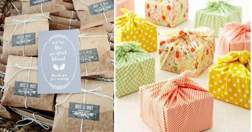 Ideas originales para envolver los regalos de boda