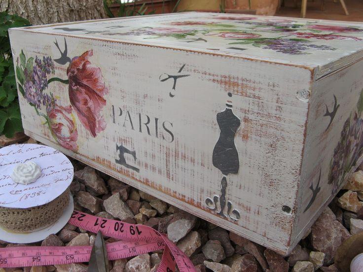 Dale una segunda oportunidad a tus cajas de madera manualidades - Cajas madera para manualidades ...