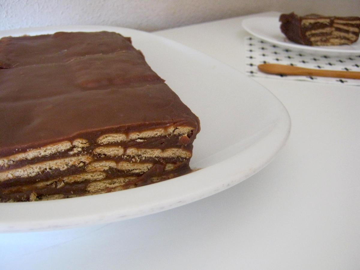 Tarta de chocolate y galletas María: LA TARTA con mayúsculas