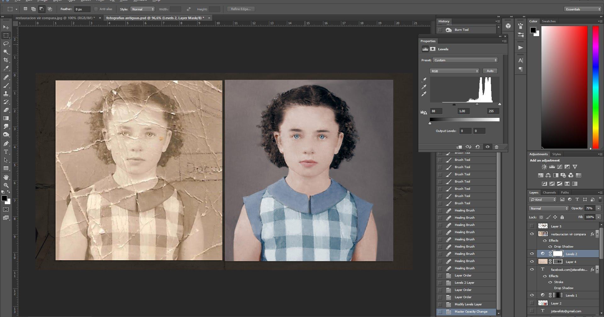 No te pierdas esta restauración fotográfica, ¡parece magia!