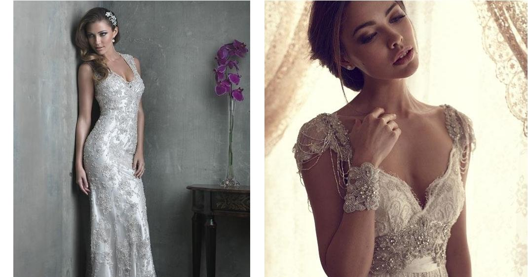 50 vestidos de novia con mucho brillo