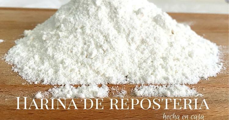Cómo hacer harina de repostería en casa
