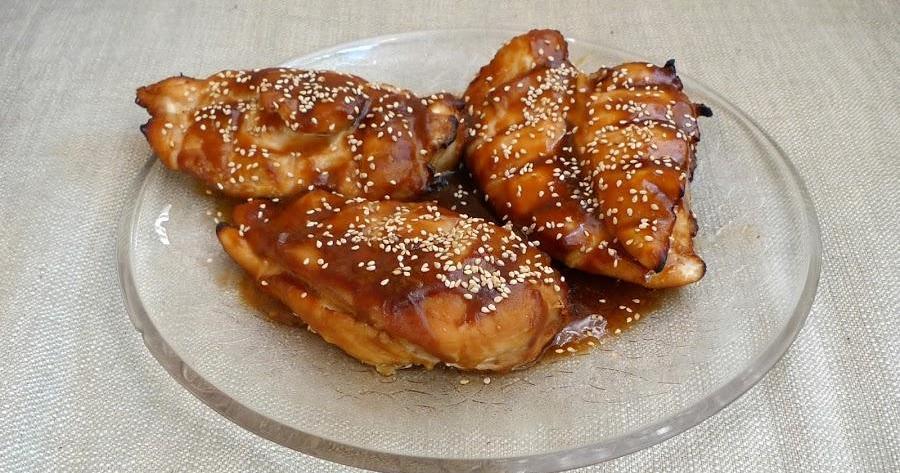 Pechugas de pollo en salsa Teriyaki cocinadas al horno