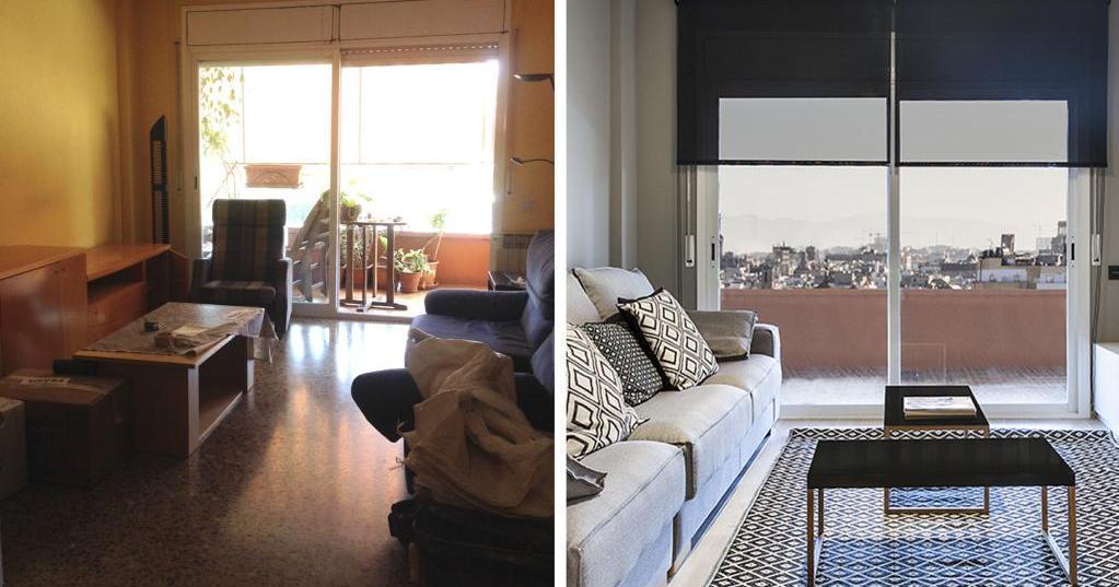 El antes y el después de un piso al completo