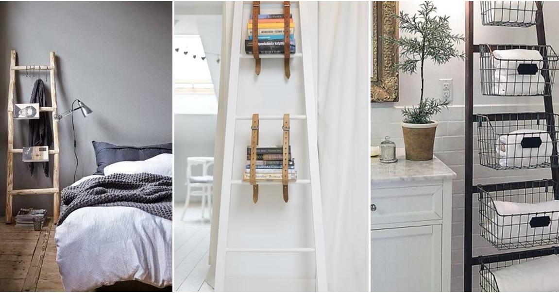 Estanterías con escaleras y otros usos para tenerlo todo en orden