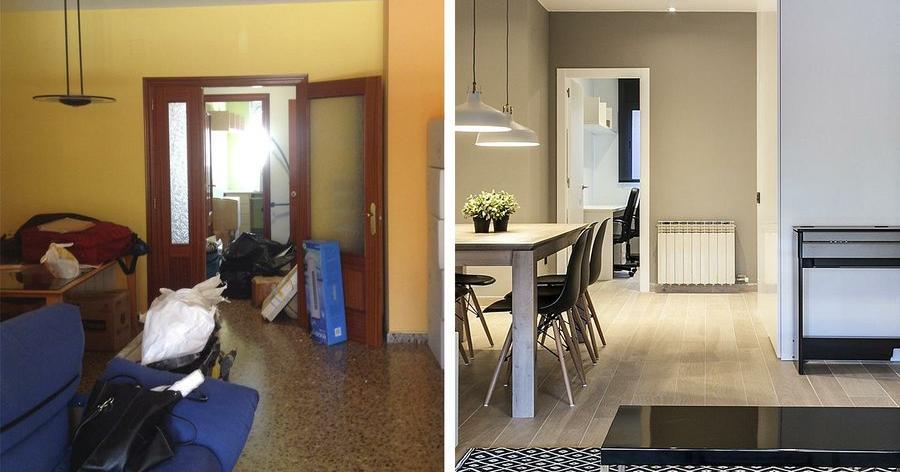 El antes y despu s de una reforma radical decoraci n - Decoracion de casas antes y despues ...