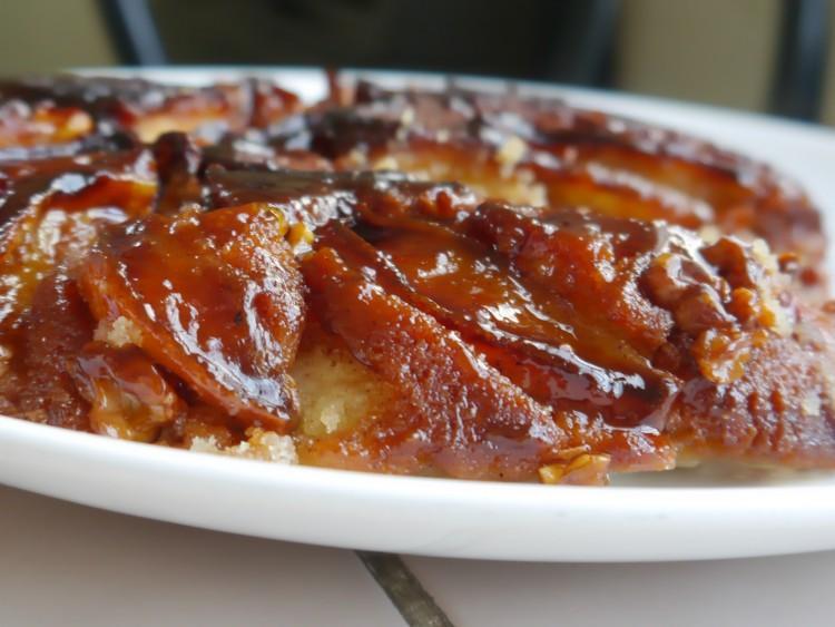 Pastel de manzanas invertido: ¡SIN HORNO! en un sartén