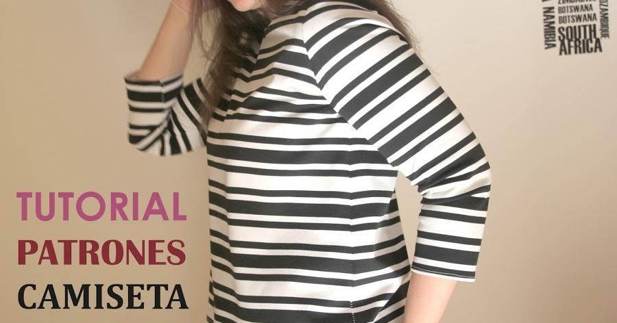 Turoiales de costura: camiseta básica de mujer (patrones gratis)