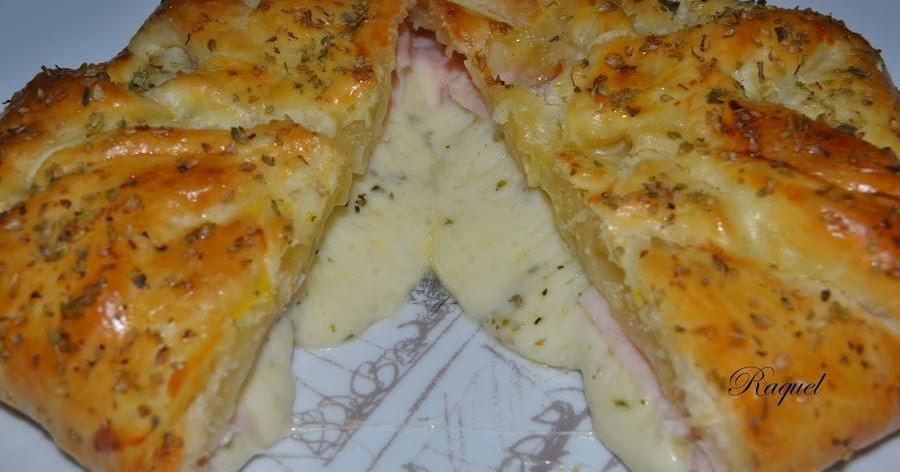 Hojaldre relleno de jamón y queso provolone al orégano