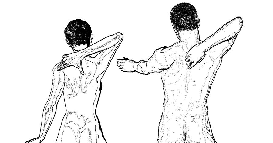 Tabla de ejercicios de espalda para estirar y relajar lumbares y dorsales