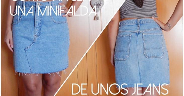 Cómo hacer una minifalda de unos jeans