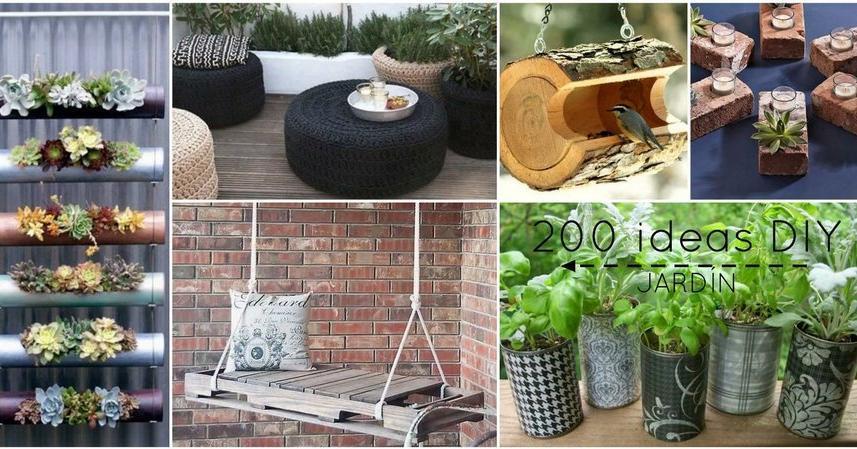 M s de 200 ideas para reciclar en el jard n 2 parte for Jardines caseros bonitos