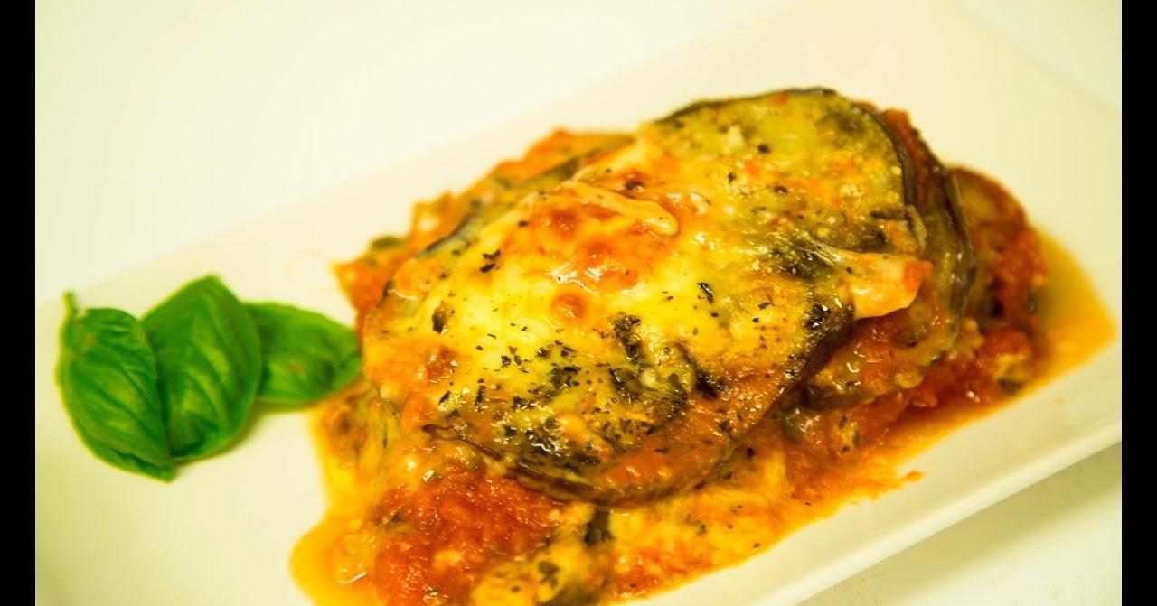 Pastel de berenjena, queso y tomate