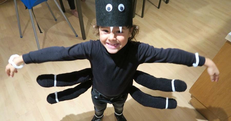 Diy Disfraz De Arana Para Halloween Manualidades - Disfraz-de-araa-casero
