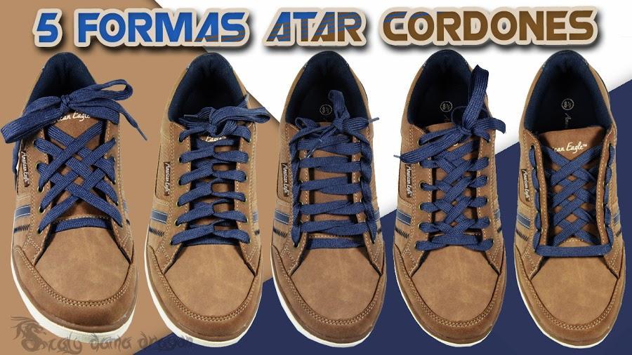 5 divertidos diseños de colocar los cordones de los zapatos