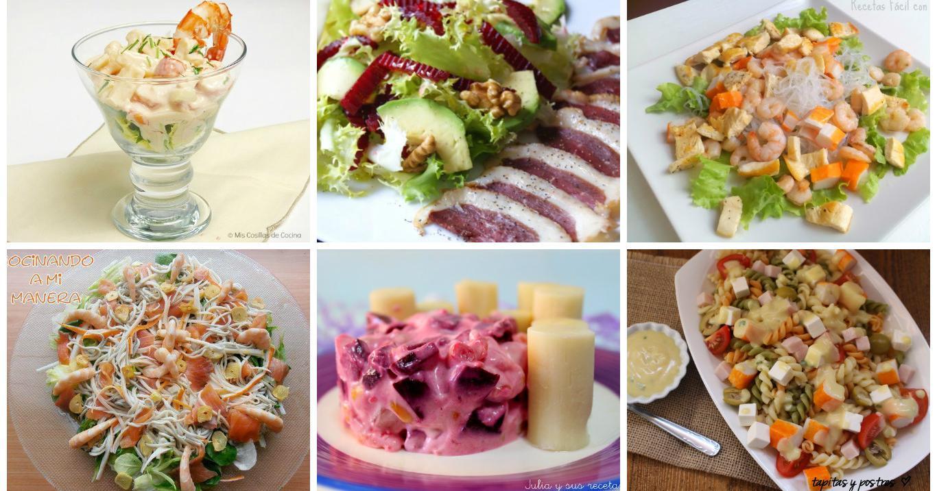 Recetas de ensaladas para días de fiesta