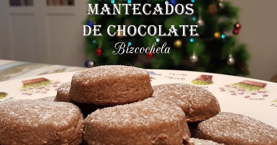 Mantecados de chocolate caseros