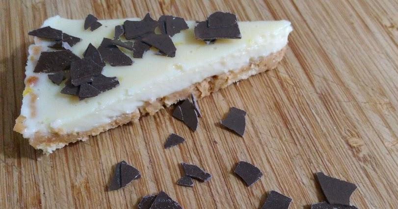 Tarta fácil de galletas y chocolate blanco