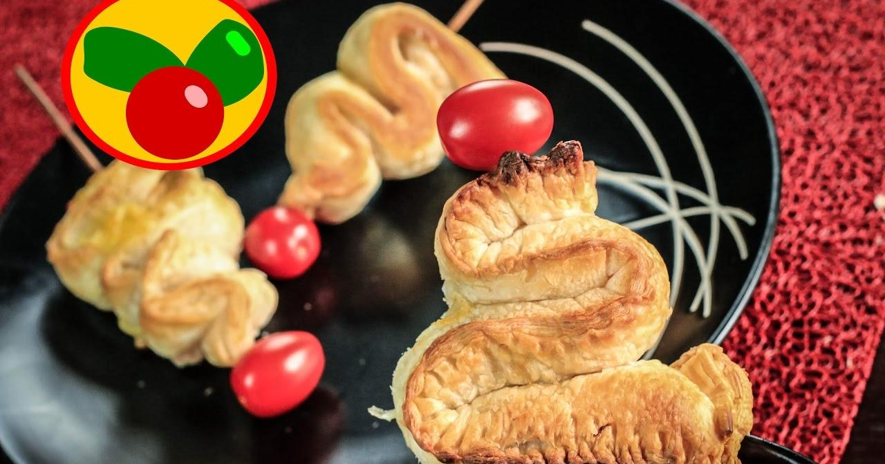 Canap s para las fiestas rboles navide os de hojaldre - Primeros platos navidenos ...