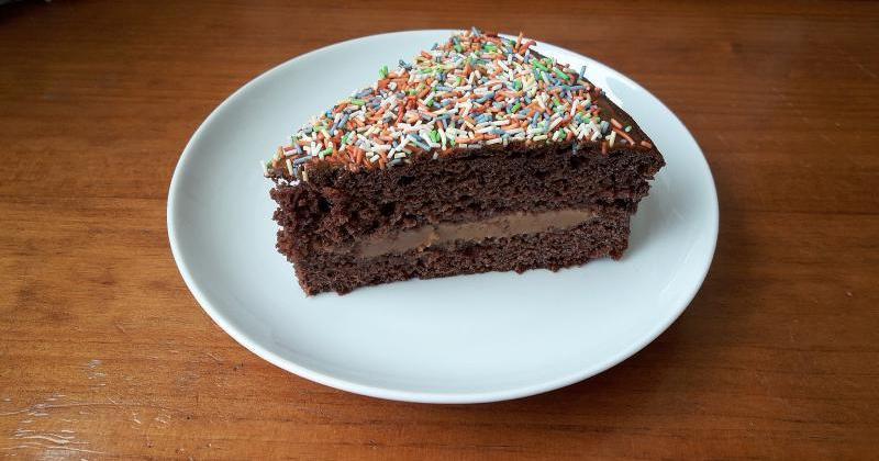 Bizcochuelo de chocolate esponjoso y húmedo