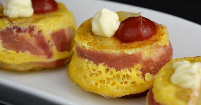 Cupcakes de tortilla de patata y beicon
