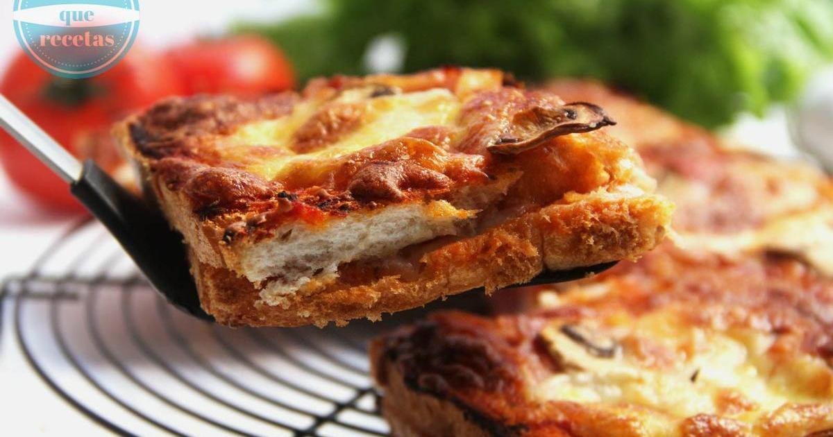 Pizza de pan de molde, una pizza un poco diferente