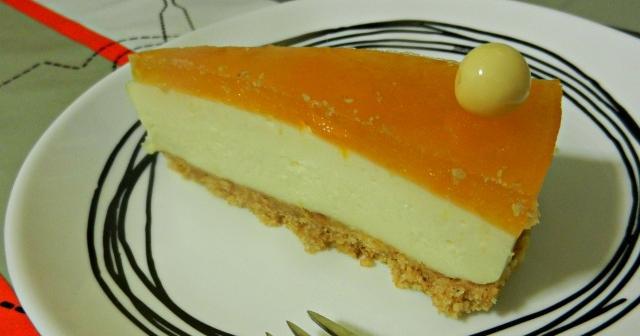 Tarta de queso y chocolate blanco sin horno
