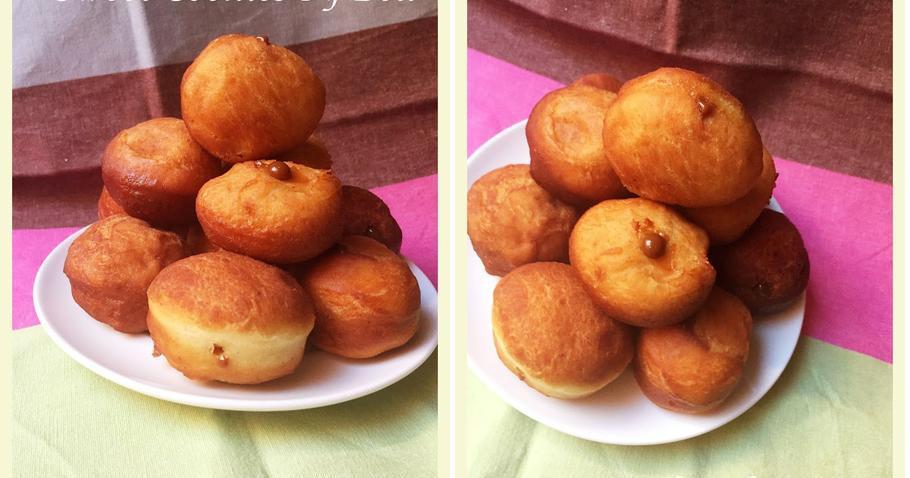 Bolitas de donuts rellenas de dulce de leche