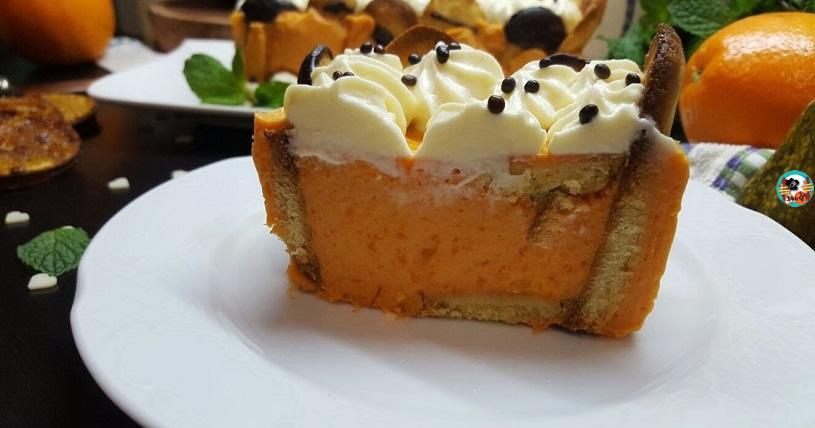 Pastel sin horno de calabaza y naranjas