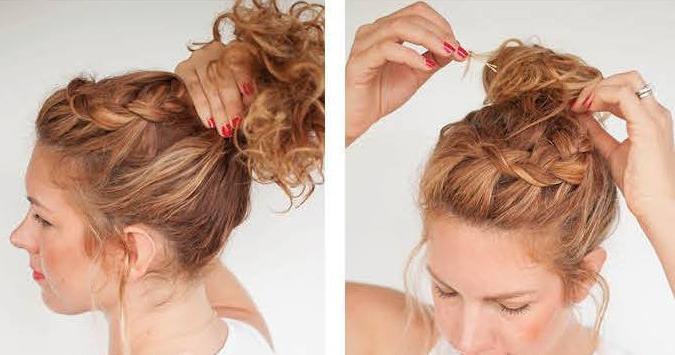 Tutorial de moño alto para cabello rizado, ¡una idea fantástica!