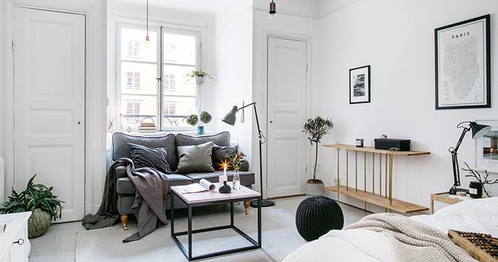 Chill decoraci n estilo escandinavo en un apartamento for Apartamento muy pequeno