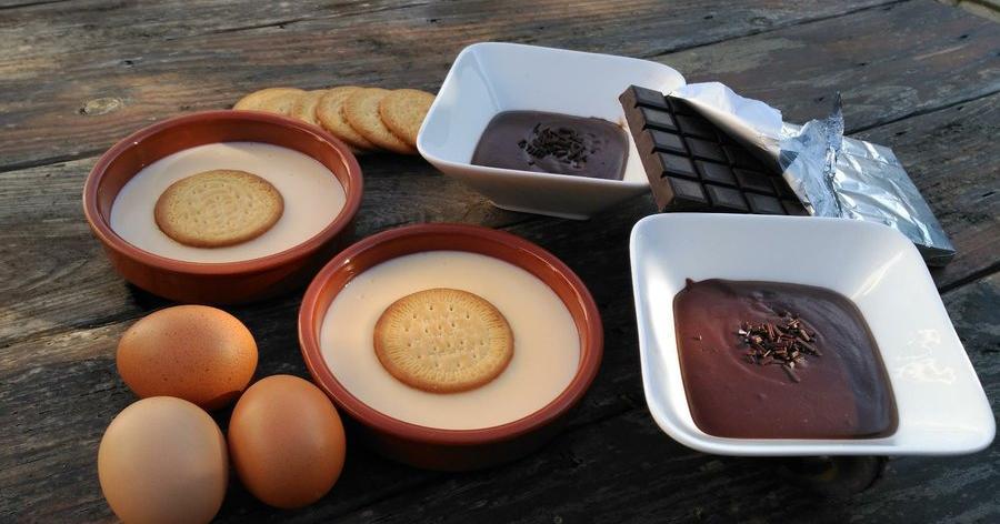 Natillas caseras: las clásicas y las de chocolate