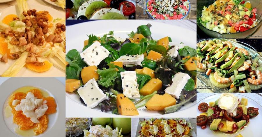 Distintas ideas de ensaladas con fruta