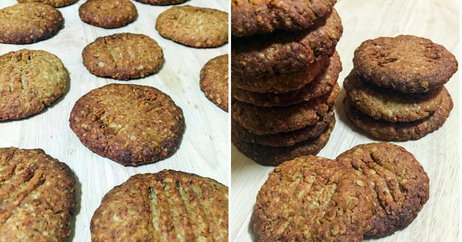 Galletas veganas de avena y almendra