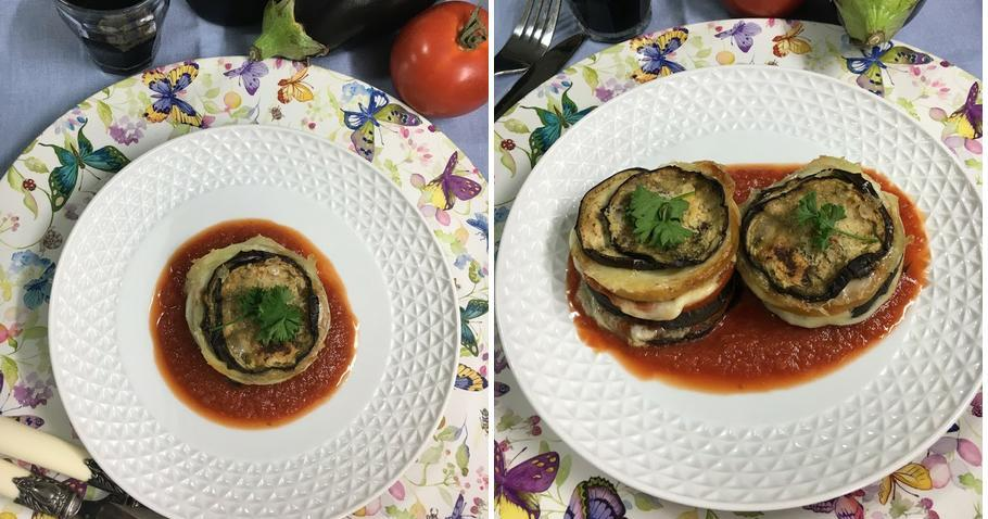 Berenjenas a la parmesana (Parmigiana De Melanzane)