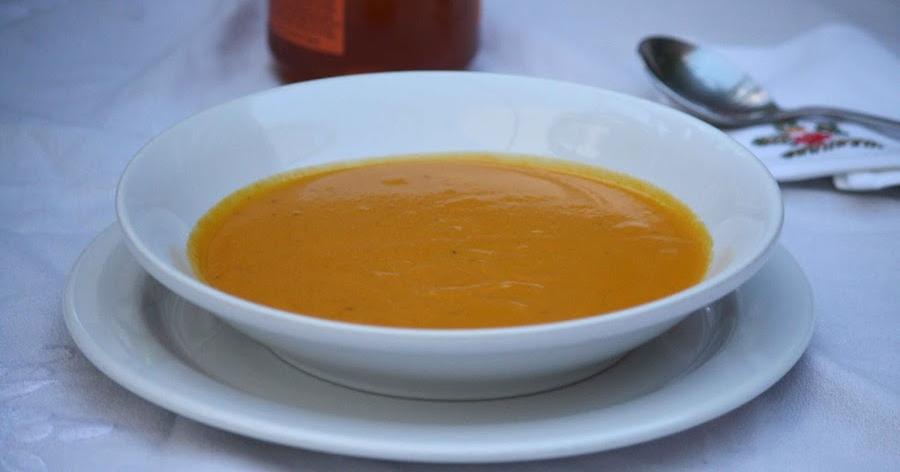 Crema de zanahoria con miel y tomillo