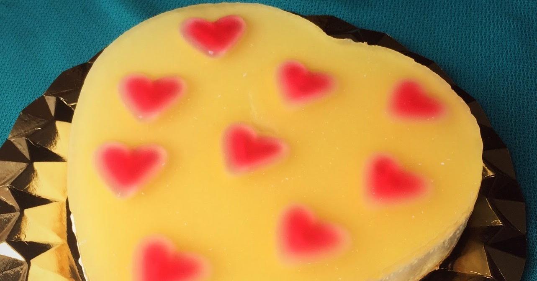Cheesecake con corazones para enamorar