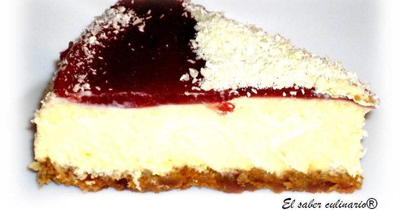 Tarta de queso clásica con chocolate blanco y creme fraiche