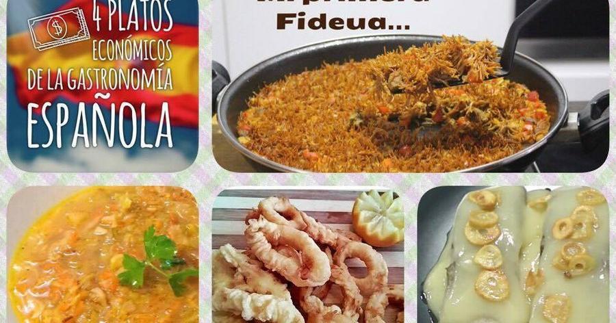 4 recetas económicas típicas de España